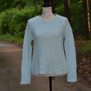 Light baby blue GAP knit wool blend sweater